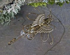 Gothic Steampunk Lightning Bug Pin Brooch by twistedsisterarts, $49.95