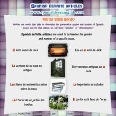 Spanish definite articles: chart, examples and practice