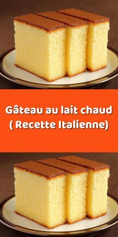 The recipe for an Italian hot milk cake - French Desserts, No Bake Desserts, Easy Desserts, Dessert Recipes, Angle Food Cake Recipes, Homemade Cake Recipes, Oreo Dessert, Hot Milk Cake, School Cake