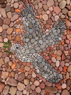 Happy Easter The Effective Pictures We Offer You About Garden Pathway pebbles . Mosaic Rocks, Pebble Mosaic, Stone Mosaic, Pebble Art, Mosaic Art, Pebble Stone, Stone Art, Art Pierre, Garden Stepping Stones