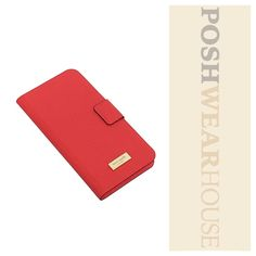 Coral (Geranium) Leather Folio iPhone 6(S) Plus Magnetic closure • Fits iPhone like a dream! • Leather.   Like what you see? Follow me!  On PM @PoshWearHouse  On IG www.instagram.com/PoshWearHouse  On FB www.facebook.com/PoshWearhouse kate spade Bags Wallets