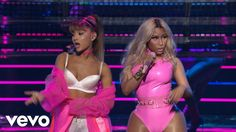 """WATCH: Ariana Grande's reggae-esque """"Side To Side"""" performance from last night MTV VMAs featuring Nicki Minaj.   Is it a Yes/No for you?"""
