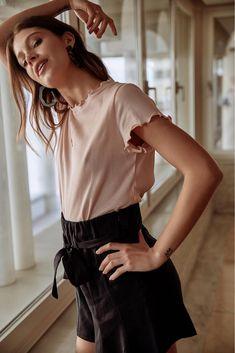 5b0dd5cb28 Top Enni rose. Tache de Rousseur · Wanted - Fashion · La Corail Rouget -  Haut de maillot ...