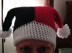 The Perfect Stitch...: Crochet Harley Quinn Hat....