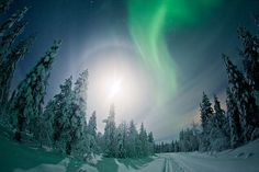 Norther Lights in Finnish Lapland by Visit Finland, via Flickr