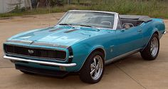 The Hottest Muscle Cars In the World: 1967 Camaro SS Convertible