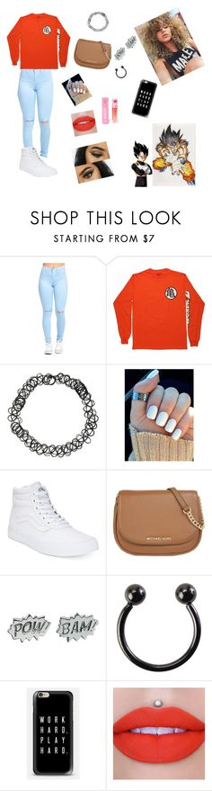 """""""Power Level over 9,000"""" by mxmi-xo ❤ liked on Polyvore featuring Vans, MICHAEL Michael Kors, Edge Only, Casetify and Jeffree Star"""