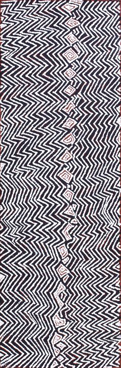 Bobby West Tjupurrula - Palipalintja (Tingari Dreaming Time stories) - BW1604119 - 87 x 28 cm http://www.aboriginalsignature.com/art-aborigene-papunya-tula/bobby-west-tjupurrula-palipalintja-tingari-dreaming-time-stories-bw1604119-87-x-28-cm