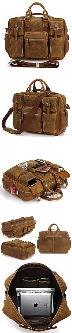 $ 169.99 /// Free Shipping /// Handmade Leather Luggage Traveling Bags Leather Messenger Bag     #leathermessengerbag #leather #messenger #bag