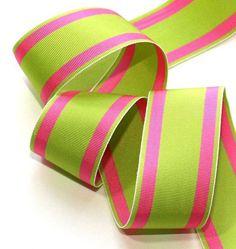 pink. green. grosgrain.