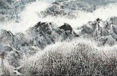 Silver Autumn Snow: Tibetan Suite 78 (2005) - Liu Guosong (1932 china - ), Shanghai & Taiwan.