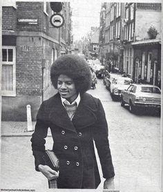 MICHAEL JACKSON IN DE JORDAAN (LAURIERGRACHT/HAZENGRACHT), 1977