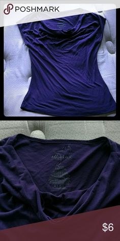 Purple  shirt Plain purple shirt with a dropping neck line. It's flattering on just doesn't fit. Tops Blouses
