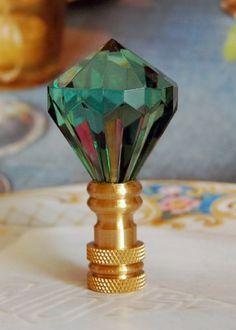 LAMP FINIAL-SATIN NICKEL METAL LAMP FINIAL ** FLARED CYLINDER DESIGN ** MODERN
