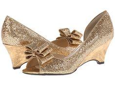 J. Renee Chrissy Gold Glam Fabric - 6pm.com