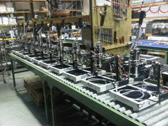 Some of the very first batch of LONDINIUM I espresso machines on the production line