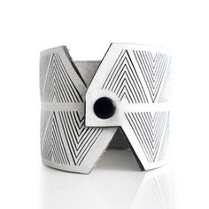 Chevron Cuff White, $26, now featured on Fab.