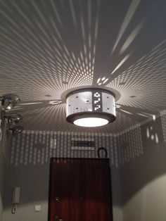 Ceiling home made wash machine drum lamp
