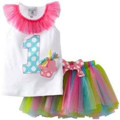 Summer Baby Girl Clothes Sets White Cotton Letter Print T-shirt + Mini Rainbow Tutu Skirt Suits For Baby 1 Year Birthday Wear 1st Birthday Tutu, First Birthday Dresses, Birthday Party Outfits, Baby Girl Birthday, My Baby Girl, Baby Girls, Birthday Ideas, Birthday Wishes, Birthday Parties