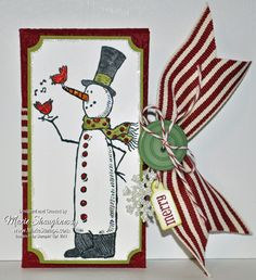 Snowman Coffee Treat Holders by MarieStamps.com featuring Stampin' Up!'s Snow Much Fun stamp set and Petite Pocket Die.