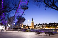 Gettyimages: England London Big Ben and Houses of Parliament from the London Eye at dusk by Jon Arnold
