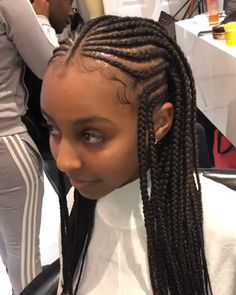 (notitle) In box braids were everywhere. They certainly were the coolest hairstyle, and well known movie and tv characters were wearing them, from Dionne in Clueless to Moesha. As is often the case, that which was once cool is cool again. Black Kids Braids Hairstyles, Cornrows Braids For Black Women, Lemonade Braids Hairstyles, Kids Cornrow Hairstyles, Halloween Hairstyles, School Hairstyles, Hairstyles For African Hair, Cainrow Hairstyles, Kids Crochet Hairstyles