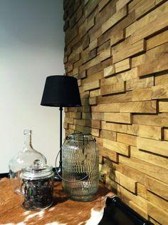 impermo houtstrips van gerecupereerde teak op panelen voor een ...