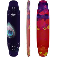 Rayne Whip - Peacock Longboard Skateboard Deck w/ Grip Longboard Design, Skateboard Decks, All The Way Down, Whippet, Peacock, How Are You Feeling, Take That, Sport, Skateboards