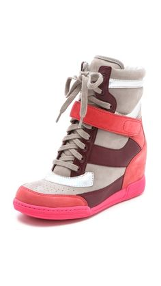 Marc by Marc Jacobs | Wedge Sneakers in silver/grey/wineberry
