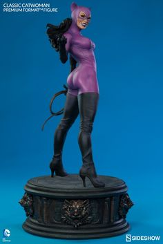 Since her debut in 1940, Selina Kyle has led many lives as Gotham City's most infamous cat burglar – and in that time worn just as many costumes. Inspired by her popular 90's look introduced by Jim Balent with the launch of the first Catwoman solo comic title, Sideshow Collectibles is proud to present the Classic Catwoman Premium Format™ Figure. Signifying the evolution of a more acrobatic and combative Catwoman, Selina lets her hair down for her nightly prowl, fitted in her skintight purple…