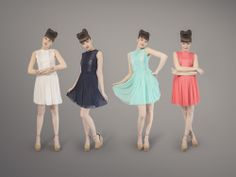 Marie Rose Dress - Cream, Navy, Mint, Teaberry Rose Dress, Ballet Skirt, Mint, Cream, Navy, Skirts, Dresses, Fashion, Peppermint