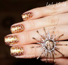Lesly Stamping Nail Art - (Lesly Plate/Tile - LS-18)