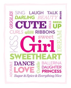 This #free printable makes a sweet addition to your little girl's bedroom decor: http://www.parents.com/printables/decorative-printables/?socsrc=pmmpin130603krGirlPrintable