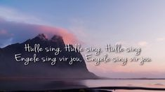 I do not own the right to the song, no copyright intended. Song is for worship purposes. For personal use only Video: Patmos Studio Audio: Adam - Engele sing. Download Gospel Music, Simple Life Hacks, Afrikaans, Quotes About God, Craft Videos, Easy Crochet, Maths, Worship, Singing