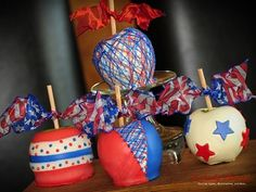 4th of July Chocolate Covered Apples