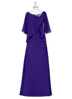 This Floor Length Sheath Column Dress By Azazie Is