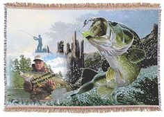 Large Fishing Custom Personalized Woven Bed Throw Blanket with Fringe 50 X 60 Inches KJs Creations http://www.amazon.com/dp/B01AR4YUKE/ref=cm_sw_r_pi_dp_Hl2Swb1HMEA81