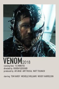 Venom Minimalist Polaroid Film Poster