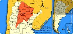 La Argentina está compuesta por nueve regiones geográficas.