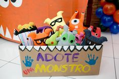 Festa Infantil   Oficina de Monstros   Vestida de Mãe   Fernanda Floret   Blog sobre Bebês e Mamães
