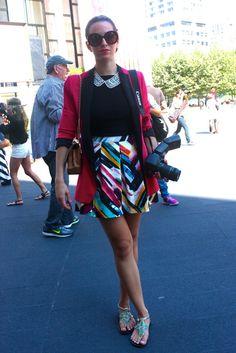 Mercedes Benz Fashion Week Spring 2013 - Street Vision