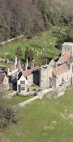 The Medieval Lympne Castle, Romney Marsh, Kent. England.