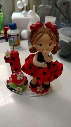 Muñeca para torta de cumpleaños