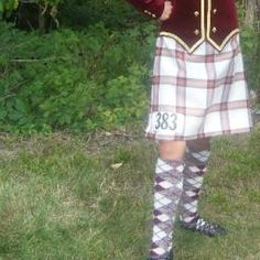 Kilt with burgundy jacket and gold trim #Young #Other #Tartan