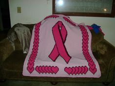 Another Breast Cancer Awareness Afghan