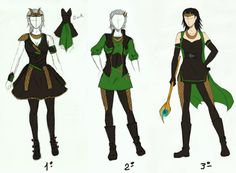 Loki's female designs by LenaKuroHana on deviantART