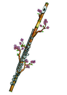 Cherry Blossoms flute