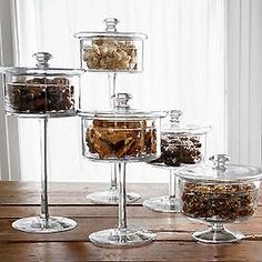 Pedestal Candy Dishes.