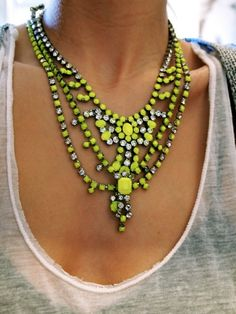 neon statement necklace