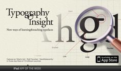 Typography Insight / appli iPad + iPhone